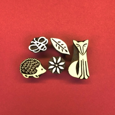Indian- Wooden-Printing-Block-Woodland-Creatures
