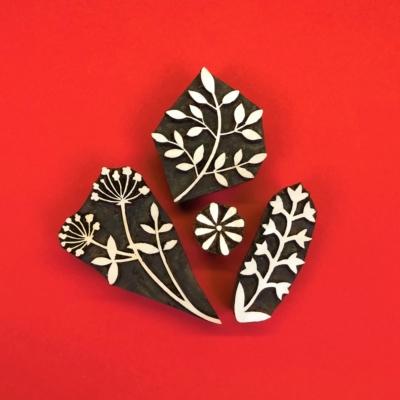 Indian-Wooden-Printing-Blocks-Botanical-Leaves