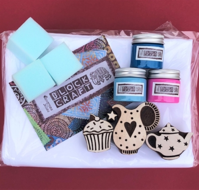 Indian Block Printing Set - Time For Tea