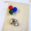 Complete Block Printed Drawstring Bag - Dinosaur and Stars