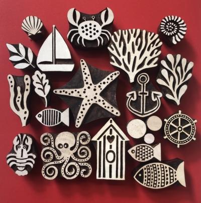 Indian-Wooden-Printing-Blocks-Sealife