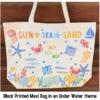 Sea Life Block Printed Maxi Bag