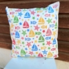 Seaside Block Printed Cushion Cover