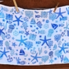 Blue Sea Life Block Printed Pillowcase