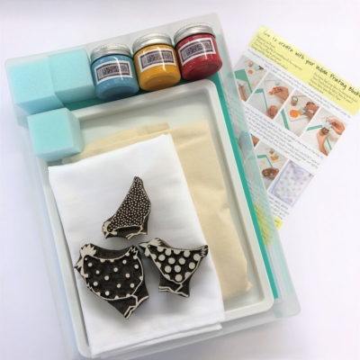 Complete Block Printing Kit - Chickens
