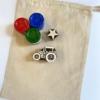 Tractor & Star Block Printed Kit