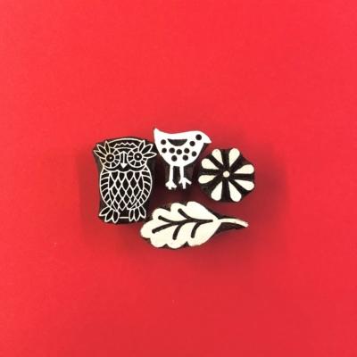 Indian Block Printing Set - Owl & Bird