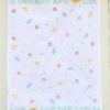 Meadow & Bee Hive Block Printed Tea Towel Pastel