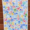 Sealife Block Printed Random Tea Towel