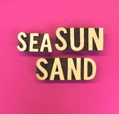 Sand Sea Sun Text