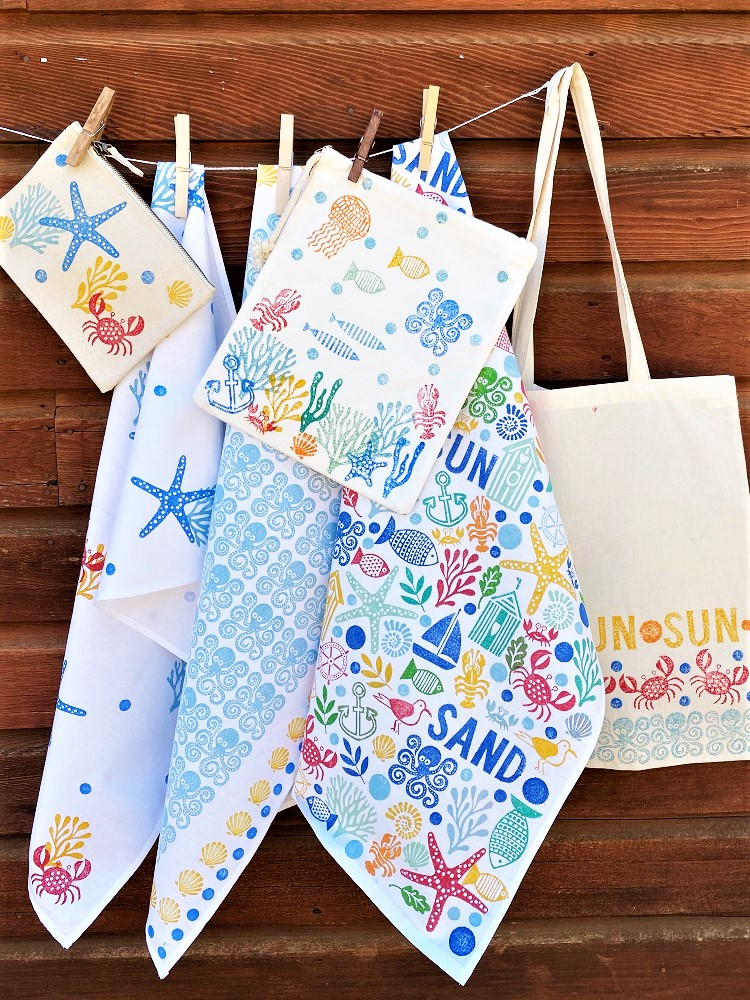 Sea Life & Nautical Printed Fabrics
