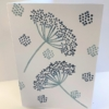 Cow Parsley Block Printed Card