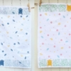 Meadow and Bee Hive Block Printed Tea Towels