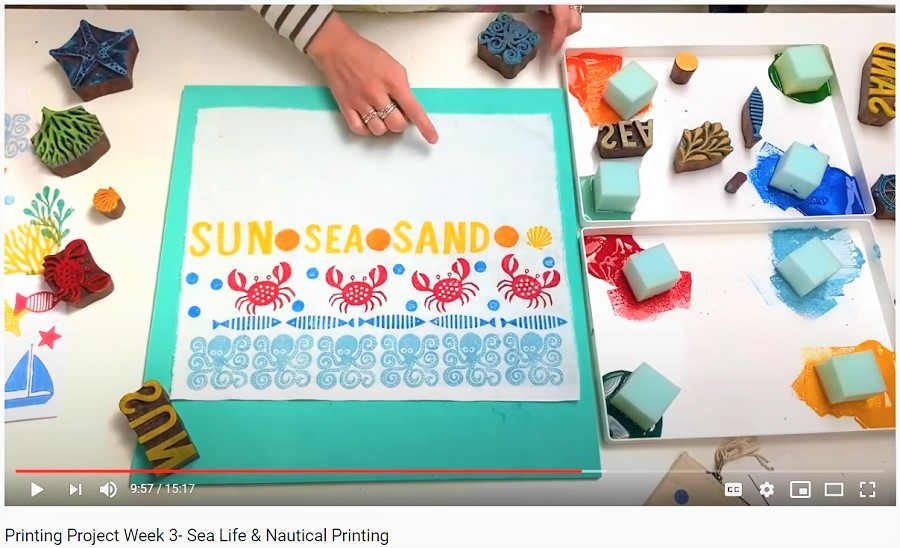 sea-life-block-printing-video