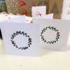 Block Printed Cards- Small Simple Wreath