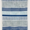 Block Printed Fabric- Lines and Stripes designs in Blues