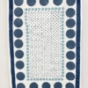 Block Printed Jaipur Collection Tea Towel in Blues