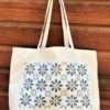 Flower Leaf Tile Block Printed Maxi Bag