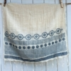 Block Printed Organic Cotton Scarf- Blues