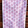 Block Printed Tea Towel- Pretty Pink Paisley