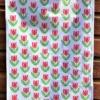 Block Printed Tea Towel- Red Rose Kit