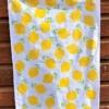 Block Print Kit- Sunny Yellow Lemon Tea Towel