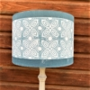 Hand Block Printed Lampshade- Leaf Tile with Solid Border