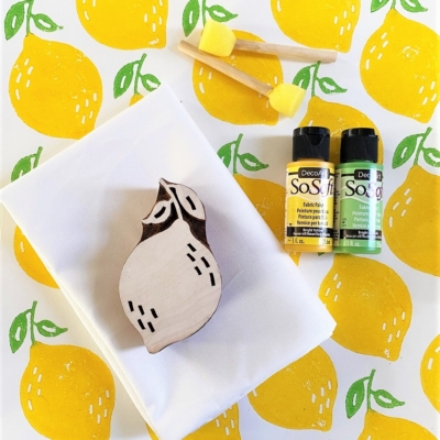Indian Block Print Kit- Sunny Yellow Lemon