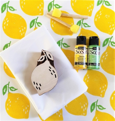 Indian Block Print Kit- Sunny Yellow Lemon