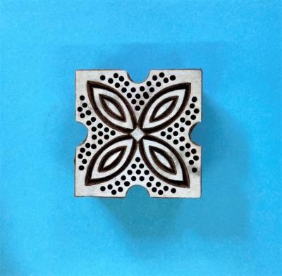 Indian Wooden Printing Block- Spotty Leaf Tile