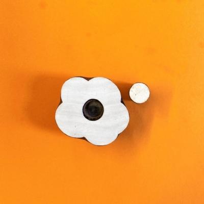 Indian Wooden Printing Block- Poppy Flower