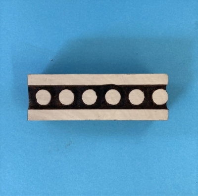 Indian Wooden Printing Block- Spotty Border