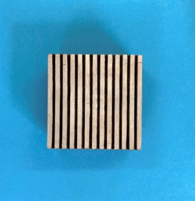 Indian Wooden Printing Block- Lined Square