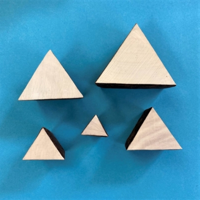 Indian Wooden Printing Blocks- Solid Triangles