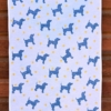 Indian Block Printed Starry Doggy Tea Towel