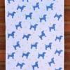 Indian Block Printed Starry Doggy Tea Towel