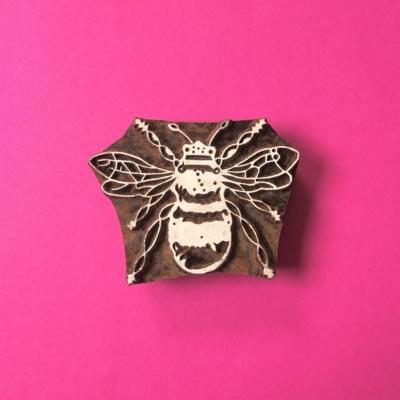 Indian Wooden Printing Block - Bee