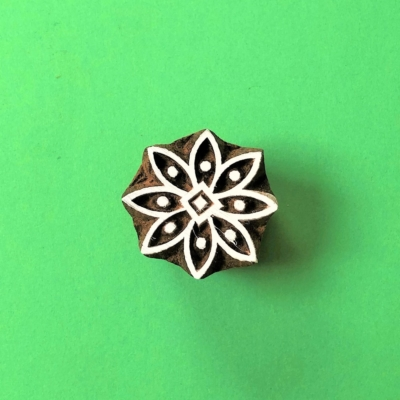 Indian Wooden Printing Block - Flower 2