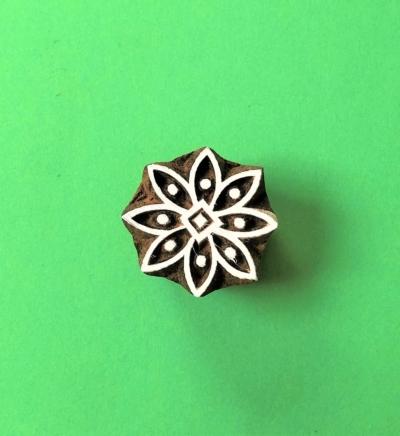 Indian Wooden Printing Block - Flower 2
