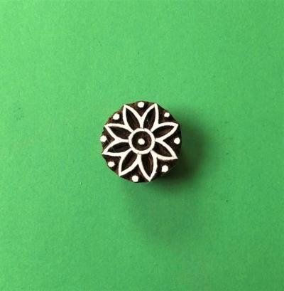 Indian Wooden Printing Block - Flower 3