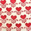 Indian Wooden Printing Block - Heart Motif Sample