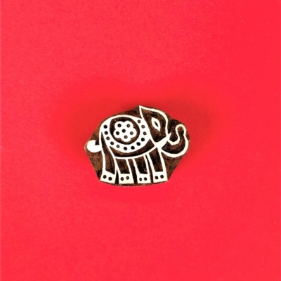 Indian Wooden Printing Block - Mini Indian Elephant