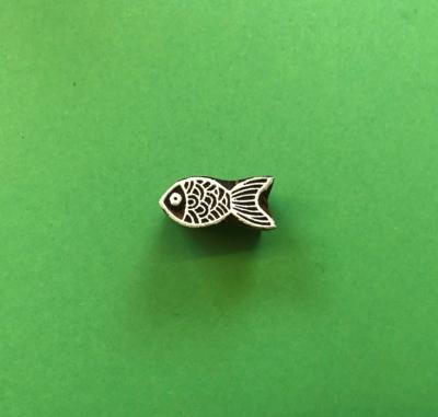 Indian Wooden Printing Block - Mini Pretty Goldfish