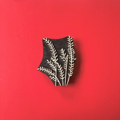 Indian Wooden Printing Block - Tall Grasses