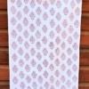 Block Printed Paisley Tea Towel in Mulberry