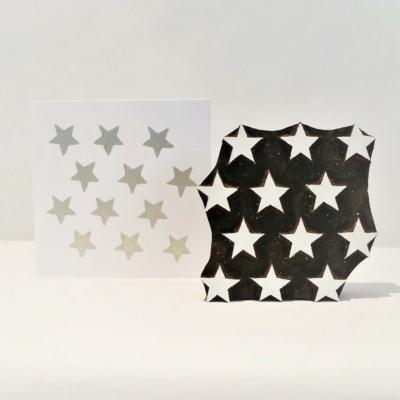 12 Stars Repeat Printing Block