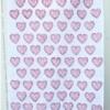 Block Printed Tea Towel- Raspberry Heart Block Print Kit