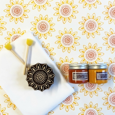 Block Print Kit- Sunny Sunflower