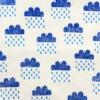Block Printed Fabric- Cloud & Raindrop