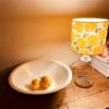 Block Printed Lampshade- Leafy Lemon Design
